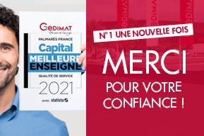 Gedimat élue Meilleure Enseigne 2021 par le magazine Capital