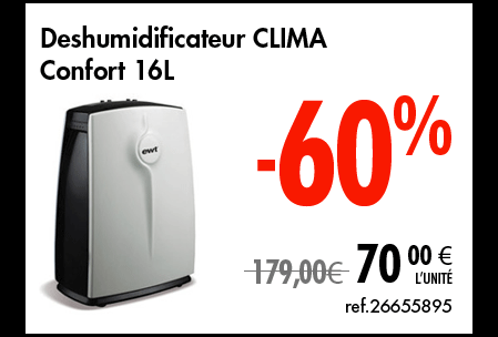 Déshumidificateur Clima
