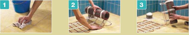 Etapes à suivre lors de la pose du chauffage au sol sépcial salle de bains
