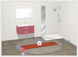 Configurateur 3D Gedimat - Positionner le produit