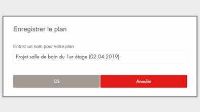 Configurateur 3D Gedimat - Enregistrer votre plan