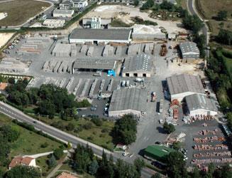 Vue aérienne Gedimat Gautier Matériaux (Puymoyen)
