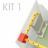 Solution standard de Système de distribution d'air chaud à partir d'une cheminée à foyer fermé