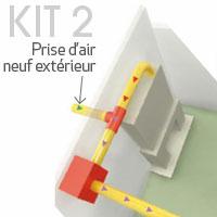 Solution Grand confort de Système de distribution d'air chaud à partir d'une cheminée à foyer fermé