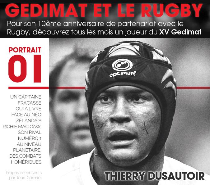 10 ans - Gedimat et le Rugby - Thierry Dusautoir