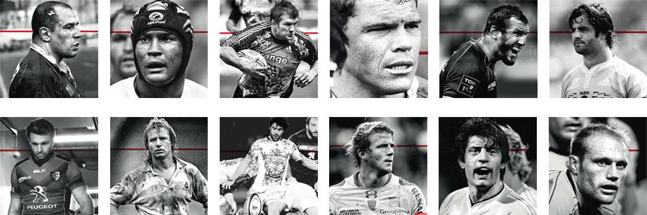 Portraits de joueurs de Rugby emblématiques