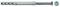 Cheville à expansion nylon pour ossatures et cadres SX-R diam.10mm long.80mm avec vis bois diam.7mm long.80mm 5 pièces - Gedimat.fr