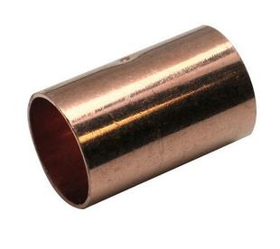 Manchon cuivre à souder égal femelle-femelle 270CU diam.14mm sur carte de 2 pièces - Gedimat.fr