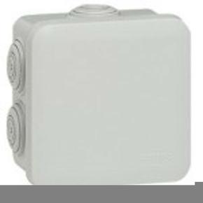 Boîte de dérivation LEGRAND PLEXO étanche carrée 80x80mm haut.45mm coloris gris - Gedimat.fr