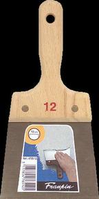 Couteau à enduire acier manche bois n°12 long.24,5cm larg.12cm - Gedimat.fr