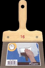Couteau à enduire acier manche bois n°16 long.24,5cm larg.16cm - Gedimat.fr
