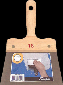 Couteau à enduire acier manche bois n°18 long.24,5cm larg.18cm - Gedimat.fr
