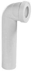 Pipe d'évacuation WC coudée longue diam.100mm entraxe 395mm - Gedimat.fr