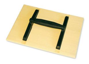 Taloche bois rectangulaire poignée ovale monobloc 33x26cm - Gedimat.fr
