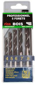 Coffret 5 forets à bois diam.4-5-6-7-8 mm - Gedimat.fr