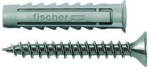 Cheville à expansion nylon type S diam.8mm long.40mm avec vis bois diam.5mm long.50mm 6 pièces - Gedimat.fr