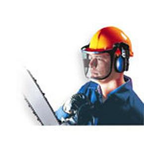 Casque de chantier équipé d'une visière grillagée et d'un casque anti bruit 25dB le kit - Gedimat.fr