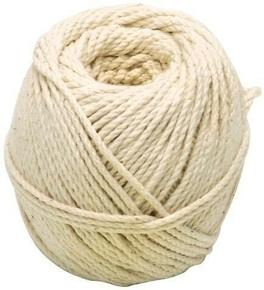 Cordeau coton câblé diam.2mm pelote de 100g environ 49m blanc - Gedimat.fr