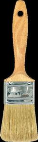 Brosse queue française fibres soies manche bois verni n°2'' larg.51mm - Gedimat.fr