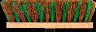Balai droit d'extérieur fibre coco et polypropylène semelle bois long.29cm - Gedimat.fr