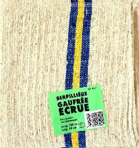 Serpillière gaufrée mélange textile 50x100cm - Gedimat.fr
