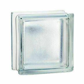 Brique de verre 198 ép.8cm dim.19x19cm satinée - Gedimat.fr