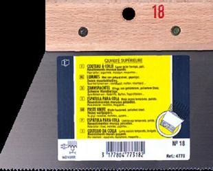 Couteau à colle lame acier trempé verni dents triangulaires 3x2,5mm lanche bois brut 18cm - Gedimat.fr