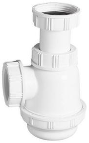 Siphon lavabo bidet culot court Diam.32mm à visser réglable Haut.45-90mm sac blanc - Gedimat.fr