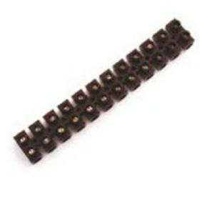 Barrette de connection électrique nylbloc 12 bornes coloris noir capacité 2,5mm² - Gedimat.fr