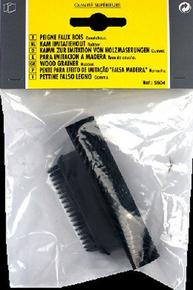 Peigne décor caoutchouc naturel faux bois 10 cm noir - Gedimat.fr