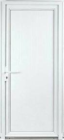 Porte de service isolante DIEPPE en PVC ISO120 blanc gauche poussant haut.2,00m larg.80cm - Gedimat.fr