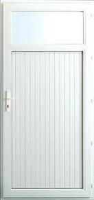 Porte de service isolante VANNES en PVC ISO140 Blanc droite poussant haut.2,00m larg.80cm - Gedimat.fr