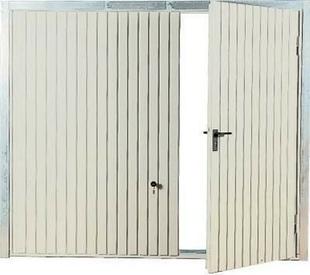 Porte De Garage Basculante Tablier M Tallique Avec Portillon Droit Haut 2 00m Larg 2 40m