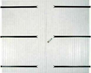 porte de garage 2 vantaux en pvc haut 2 0m larg 2 40m blanc. Black Bedroom Furniture Sets. Home Design Ideas