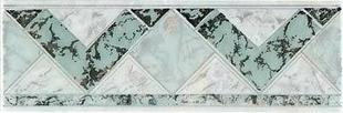 Listel carrelage pour mur en faïence TRAMA larg.6,5cm long.20cm coloris verde - Gedimat.fr