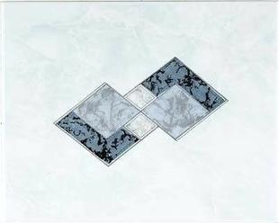 Décor Inserto carrelage pour mur en faïence TRAMA larg.20cm long.25cm coloris azurro - Gedimat.fr