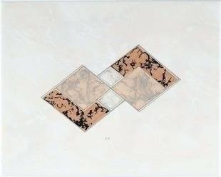 Décor Inserto carrelage pour mur en faïence TRAMA larg.20cm long.25cm coloris beige - Gedimat.fr
