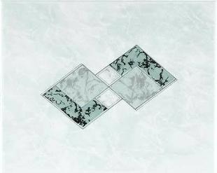 Décor Inserto carrelage pour mur en faïence TRAMA larg.20cm long.25cm coloris verde - Gedimat.fr