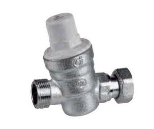 Réducteur de pression spécial chauffe-eau mâle femelle avec écrou tournant 2500L/h 16 bars diam.20/27mm - Gedimat.fr