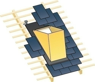embase d 39 tanch it ma ocre pour sortie de toit polyvalente shp sur toiture en ardoise. Black Bedroom Furniture Sets. Home Design Ideas