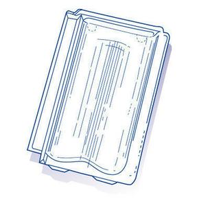 Tuile de verre ST FOY PROVINCIALE long.39,3cm larg.25cm - Gedimat.fr