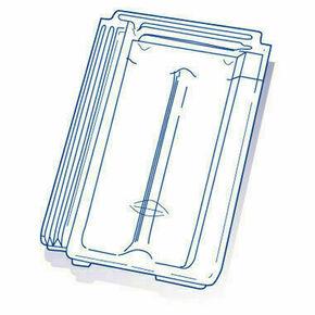 Tuile de verre MARSEILLE long.42,6cm larg.25,5cm - Gedimat.fr