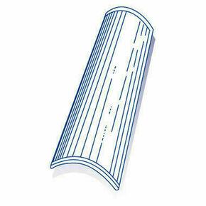 Tuile de verre CANAL long.47cm larg.19,5cm - Gedimat.fr