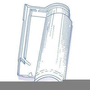 Tuile de verre OMEGA long.49,5cm larg.30cm - Gedimat.fr