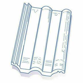 Tuile de verre GRANDE ROMANE TMB long.42cm larg.33cm - Gedimat.fr