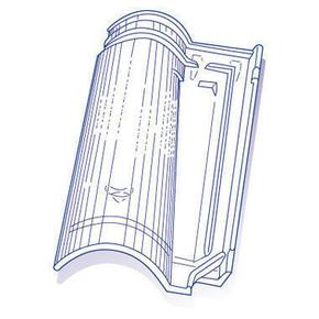 Tuile de verre ABEILLE long.48,5cm larg.32,5cm - Gedimat.fr