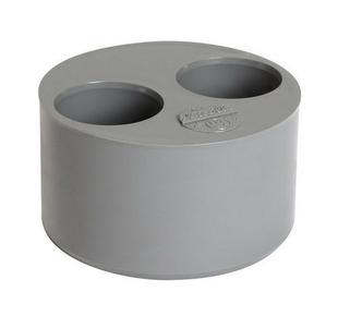 Tampon de r duction double pvc nicoll m le coloris gris - Tuyau evacuation diametre 40 ...