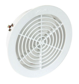 Grille d'aération NICOLL ronde simple avec moustiquaire pour tuyau PVC diam.160mm coloris blanc - Gedimat.fr