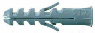 Cheville à expansion nylon à collerette diam.8mm long.40mm pour vis bois 4,5-6mm 100 pièces - Gedimat.fr