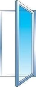 Fenêtre PVC blanc CALINA 1 vantail ouverture à la française gauche tirant haut.1,15m larg.80cm vitrage 4/16/4 basse émissivité - Gedimat.fr